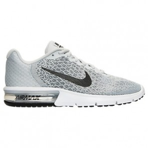Femme Nike Air Max Sequent 2 Chaussures de sport Platine pure, Noir, Gris froid 852465 001