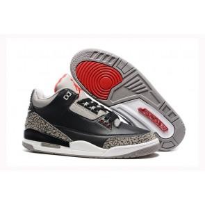 Noir / Gris / Rouge / Blanc - Homme Air Jordan 3 Chaussures