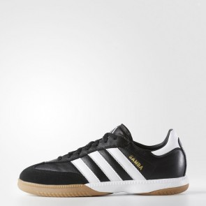 Hommes Adidas Soccer Samba Millennium Cuir IN Chaussures Noir 088559