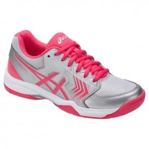 Argent, Rouge Rose, Blanc Asics Gel Dedicate 5 Femmes Chaussures de tennis