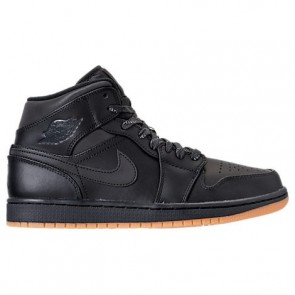 Hommes Noir, Anthracite, Gomme Air Jordan 1 Mid Winterized Chaussures AA3992 002