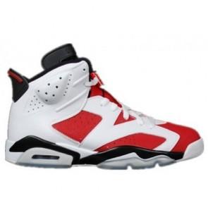 Femme & Homme Air Jordan 6 Retro Blanc, Carmine, Noir Chaussures 384664-160