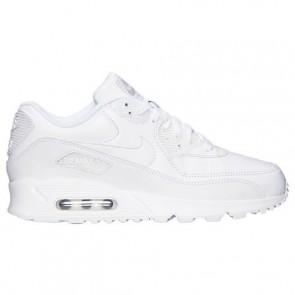 Blanc Hommes Nike Air Max 90 Cuir Chaussures de course 302519 113