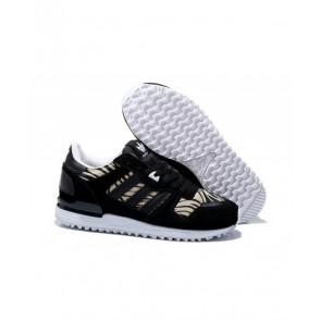 Adidas Originals ZX 700 Femmes Chaussures de course Core Noir / Blanc / Beige