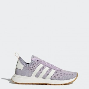 Pourpre, Blanc, Bleu tactile Femme Adidas Originals Flashback Primeknit Chaussures de running BY9103