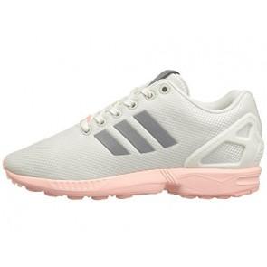 Blanc / Argent Métallique / Haze Coral Adidas Originals ZX Flux Mesh Femme Chaussures