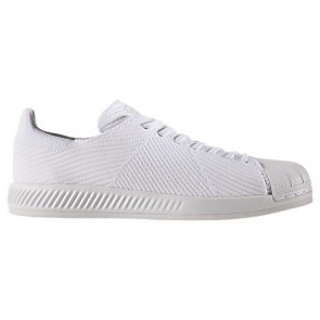 Blanc / Blanc Adidas Superstar Bounce Primeknit Hommes Chaussures S82240