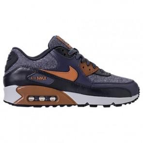 Homme Nike Air Max 90 Premium 700155 404 Tonnerre Bleu / Ale Marron / Obsidienne sombre Chaussures de course