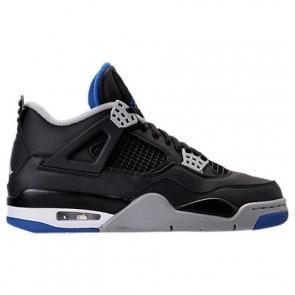 Air Jordan Retro 4 Hommes Chaussure de basketball 308497 006 - Noir / Soar / Argent mat