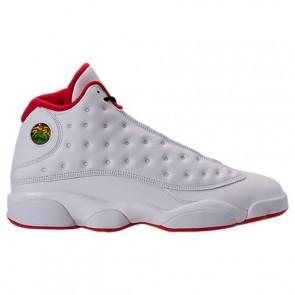 Air Jordan Retro 13 Hommes Chaussures Blanc, Argent métallique, Université Rouge 414571 103