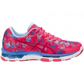 Asics Gel Netburner Professional 13 Femme Chaussures Netball Rogue Rouge / Cosmo Rose / Airy Bleu