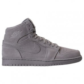 Homme Air Jordan Retro 1 High Chaussure de basketball 332550 031 - Wolf Gris / Wolf Gris