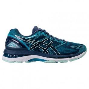 Femme Asics GEL-Nimbus 19 Insignia Bleu / Glacier Sea / Cristal bleu Chaussures T750N 506