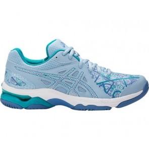 Chaussures Netball Asics GEL-Netburner Academy 7 Femmes Airy Bleu, Blanc, Arctic Aqua