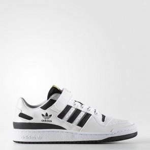Homme Adidas Originals Forum Low Chaussures de course Running Blanc / Core Noir / Métallique Doré BY4156
