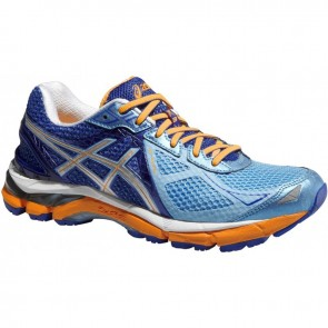 Bleu / Orange Asics GT 2000 3 (D) WIDE FIT Femme Chaussures de sport