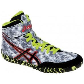 Asics Aggressor 2 LE Chaussures de lutte Homme JRLJR Digital Camouflage Gris / Vert / Rouge / Noir