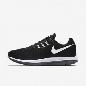 Noir, Gris foncé, Blanc Nike Zoom Winflo 4 Hommes Chaussures de course 898466-001