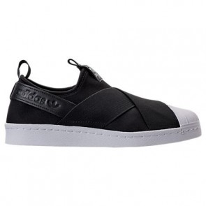 Noir / Blanc Adidas Originals Superstar Slip-On Femme Chaussures S81337