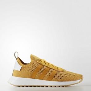 Adidas Originals Flashback Primeknit Femmes Chaussures Jaune, Jaune BY9912
