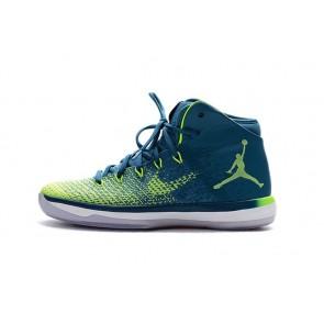 Femme Nike Air Jordan 31 Chaussure de basketball J31 Brazil Bleu
