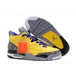 Air Jordan 3 Moon Jaune / Gris / Pourpre Homme Chaussures de course