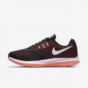 Nike Zoom Winflo 4 Femmes Chaussures de course Noir / Racer Rose / Lava Glow / Blanc 898485-006