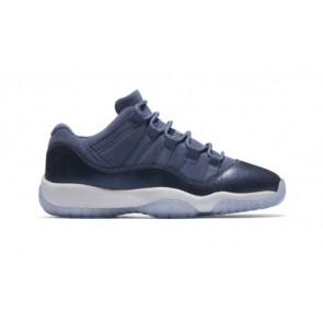 (Femmes, Hommes) Air Jordan 11 Retro Low GG Bleu Moon, La marine de minuit, Blanc Chaussures 580521-408