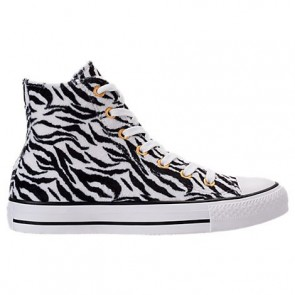 Femme Converse Chuck Taylor High Top Animal Print Blanc / Noir Chaussures de course 159467C 102