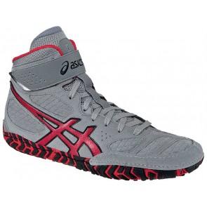 Asics Aggressor 2 - Homme Gris / Rouge / Noir Chaussures de lutte LMEL0