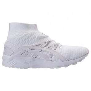 Hommes Asics Gel-Kayano Trainer Knit Hi Chaussures H7P4N 010 Blanc / Blanc