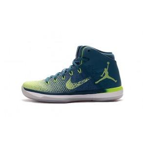 Chaussure de basketball Nike Air Jordan XXXI J31 Homme Jade, Bleu, Rouge