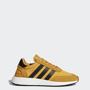 Hommes Adidas Originals Iniki Runner Chaussures - Jaune, Core Noir, Running Blanc BY9733