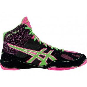 Chaussures de lutte Homme Asics Cael V6.0 CB6GT Noir / Gecko vert / Knockout Rose