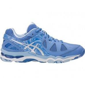 Asics GEL-Netburner Super 7 Femme Chaussures Netball - Régate Bleu / Argent / Airy Bleu