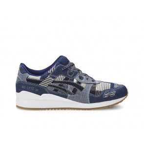 Femme Asics GEL-Lyte III Bleu / Peacoat Chaussures de course