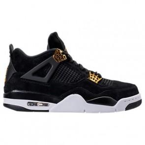 Hommes Noir / Doré Air Jordan Retro 4 Chaussure de basket 308497 032