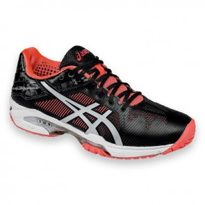 Chaussures de sport Asics Gel Solution Speed 3 Femme Noir / Diva Rose