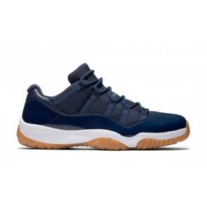 Femme, Homme 528895-405 Air Jordan 11 Retro Low La marine de minuit / Blanc / Gomme Chaussures de course