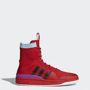 (Cramoisi, Core Noir, Pourpre) Adidas Homme Originals Forum Primeknit Chaussures BZ0645