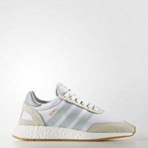 Adidas Originals Iniki Runner Femmes Chaussures Running Blanc / Vert Tactile BY9092
