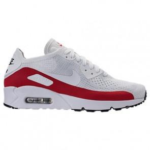 Nike Air Max 90 Ultra 2.0 Flyknit Hommes Running Chaussure Blanc, Rouge, Noir 875943 102