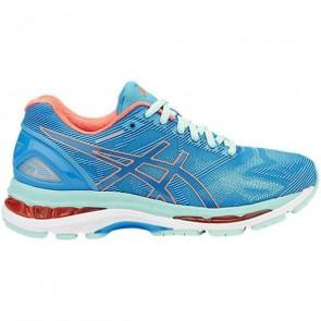 Asics Femmes Gel Nimbus 19 Bleu / Coral / Aqua Chaussures de course