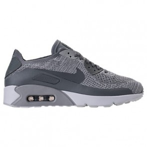Platine pure / Gris froid / Blanc Nike Air Max 90 Ultra 2.0 Flyknit Hommes Chaussures 875943 003