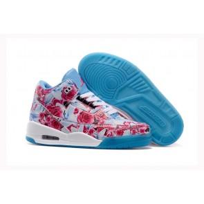 Femmes Air Jordan 3 Flower Bleu, Blanc, Rose Chaussures