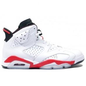 Air Jordan 6 (VI) Original Femme et Homme Blanc, Noir infrarouge 384664-123