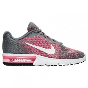 Nike Air Max Sequent 2 Femme Chaussures Gris froid, Blanc, Punch chaud, Lava Glow 852465 003