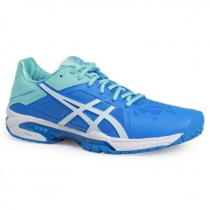 Asics Gel Solution Speed 3 Femme Chaussures de tennis Aqua Splash, Blanc, Diva Bleu