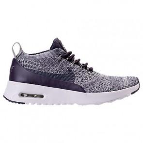 Femmes Nike Air Max Thea Ultra Flyknit Chaussures 881175 500 Raisin foncé / Blanc