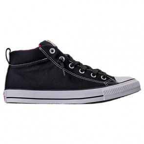 Noir / Blanc Converse Chuck Taylor All-Star Street Mid Homme Chaussures 146173F 001